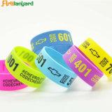 Faixa de pulso de Silicone coloridas personalizadas
