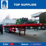 Titan Vehículo - Eje 3 remolque semi plana flat rack venta de contenedores