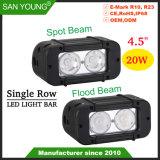 4.5Inch 20W Offroad CREE LED Pleins feux sur la barre de feux des projecteurs de barre de LED LED LED feux de travail des feux de conduite