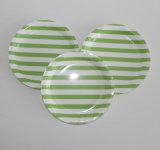 L'usager rayé vert fournit les plaques à papier rayées de POINT de polka de Chevron