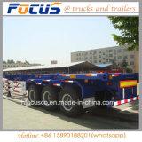 De Semi Aanhangwagen van de Vrachtwagen van de Lading van de Container van het Skelet van de Voertuigen van de nadruk