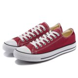Popular Casual Vulcanized Plain Red Sneakers Atacado Sapatos de lona