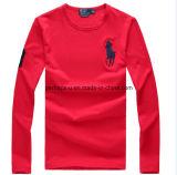 Mens om Katoenen van de Kleur van de Hals lang-Sleeved Zuiver Overhemd