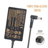 переходника мощьности импульса 19V 2.37A 45W для Toshiba PA3822u-1aca PA3822e-1AC3