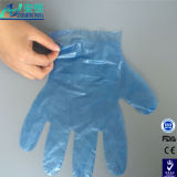 Дешевая пластмасса/перчатки поли/полиэтилена ясные/прозрачные устранимые винила