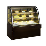 곡선 Glass Cake 또는 Bakery Display Fridge Showcase