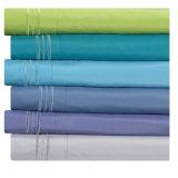 Bordados escovado camas personalizadas de microfibra Conjunto de folhas a roupa de cama