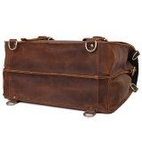 レトロ様式の週末のための大きい狂気の馬革旅行Duffle袋をカスタム設計しなさい