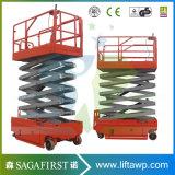 plate-forme de levage de levage sec électrique mobile 8m hydraulique de ciseaux de 4m