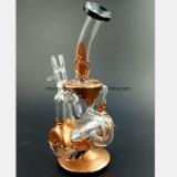 Tubulação de fumo de vidro do ouro e da prata das tubulações da recuperação do filtro