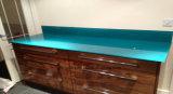 Ausgeglichenes Spritzen-Vorstand-Glas mit weißem grün-blauem usw.