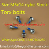 Torx Schraube Nyloc Schrauben-Auszackung-Schrauben-Maschinen-Schraube Bule Nyloc Schraube