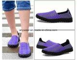 La mode sur les chaussures de patinage tissé de tricotage de chaussures pour femmes et les hommes (473)