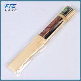 Ventilateur fait sur commande en bambou grand de main de mariage de papier de Quanlity