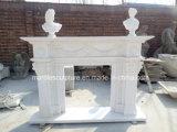 Fiori di marmo bianchi puri di bordi del camino (SY-MF233)