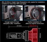 Los pares directos F2 H4 H8 H9 H16 de la linterna 6000lm 36W de la fuente LED de China escogen la disipación de calor fuerte del ventilador de la viga