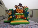 2016 KidsのためのPopular屋外の0.55mm PVC Monkey Inflatable Bouncer