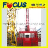 Elevación de la construcción de la jaula 1000kg/2000kg/alzamiento de la construcción/elevador solos/dobles de la construcción para el pasajero/el alzamiento material