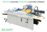 Auto industrial de gran formato en grandes rollos de película térmica de laminación de papel prensa repujado Precio de la máquina