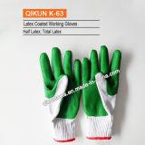 K-88すべてのサイズは編まれた働く安全ランプのかさの綿の手袋に点を打った