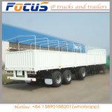 3 essieux remorque Cargo de l'aile pour le transport de marchandises en vrac