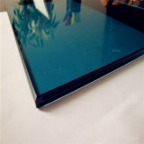 Windows 6.38mm 6.76mm Blue Reflective Laminated Glass