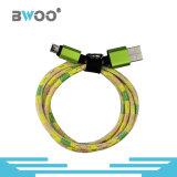 Tipo-c micro cable del relámpago colorido de cuero de datos del USB