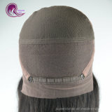 El cabello humano la parte superior de la base de seda, encaje peluca