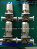 De nieuwe Klep van het Diafragma van het Roestvrij staal van het Ontwerp Sanitaire met PTFE+EPDM