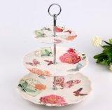 (BC-PM1018) Plaque de dessert en céramique d'imitation réutilisable de mélamine de qualité