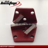 stootkussens van de Vloer van het Metaal van het Segment van 40X10X10mm de Malende Concrete Malende