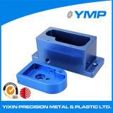 hecho personalizado blanqueado CNC de piezas de aluminio anodizado azul