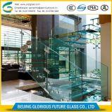 Ультра стекло утюга 12mm толщины низкое прокатанное для лестниц