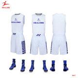 Healong Sportswear 2018 nouvelle conception de la SUBLIMATION Maillot de basket-ball