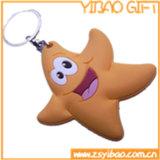 Linda forma de estrella Llavero PVC con almohadilla interior (YB-PK-52)