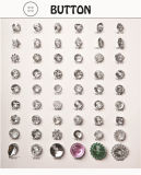 De Knoop van de diamant, de Knoop van de Baby, de ImitatieKnoop van Hom van de Os voor Kleding/Kledingstuk/Schoenen/Zak/Geval