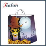 Presente impresso 4c feito-à-medida da compra do feriado de Halloween saco de papel