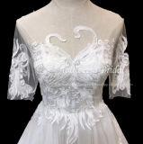 Aoliweiya 최고 판매 선 백색 3/4 소매 결혼 예복