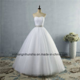 Платье венчания без бретелек кристалла диаманта официально Beaded