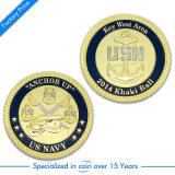 Pièces de monnaie faites sur commande d'enjeu d'argent d'antiquité en métal de la visibilité 3D avec (035)