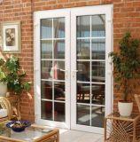 Un design moderne Back Yard/balcon porte en verre à battants en aluminium avec décoration Grill (ACD-014)