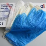 Vinyle sans poudre gant jetable pour un examen médical sans latex