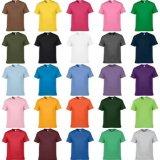 Les T-shirts blanc ordinaires du coton 140GSM Jersey du polyester 30% du comité technique 70% de plaine les meilleur marché