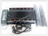 12 de la señal de Móvil de la banda de mordaza, bloqueador de la señal para todos los 2G, 3G, 4G de bandas de telefonía móvil, Lojack 173MHz. 433MHz, 315MHz GPS, Wi-Fi, VHF, UHF, nueva Alta Potencia Jammer