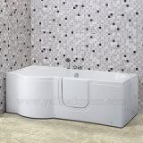 120A年配のマッサージの浴槽のコーナーのシャワー・カーテンの通りがかりのたらい