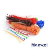 Serre-câble en nylon blanc/noir résistant UV
