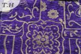 Purpurrotes schönes Chenille-Jacquardwebstuhl-Sofa-Gewebe durch 320GSM