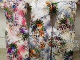 Tessuto viscoso della signora Dress Flower Digit Print del rayon