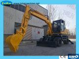 9.5ton Wrawler Excavator/0.3cbmのバケット・ホイール・エキスカベータ