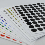 De douane drukte de Waterdichte Zelfklevende Sticker van het Etiket van het Document Ronde af